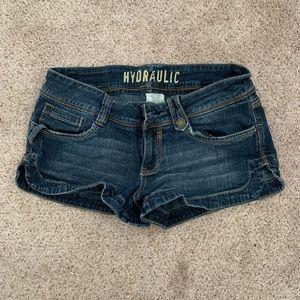 Hydraulic Jean Shorts, size 9/10